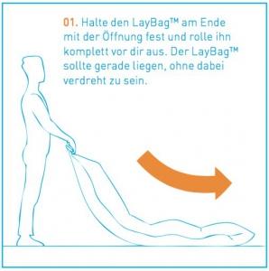 Luftliegen Anleitung Schritt 1