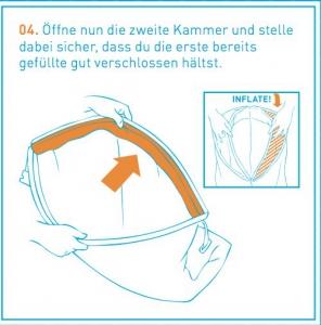 Luftliegen Anleitung Schritt 4